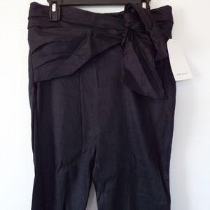 Zara Pants - Zara Trousers With Draped  Bow